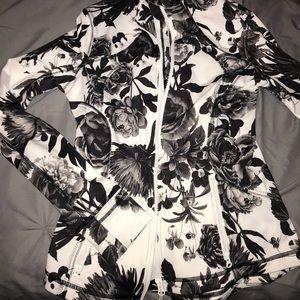 Black and white lululemon athletic zip up jacket